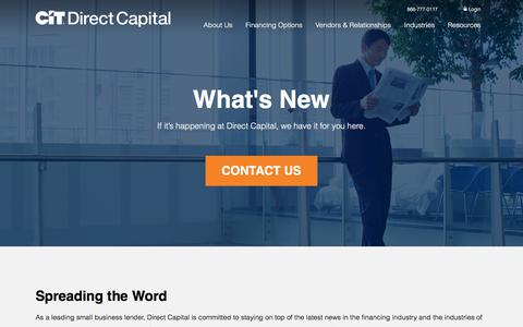 Screenshot of Press Page directcapital.com - News - captured Oct. 24, 2017