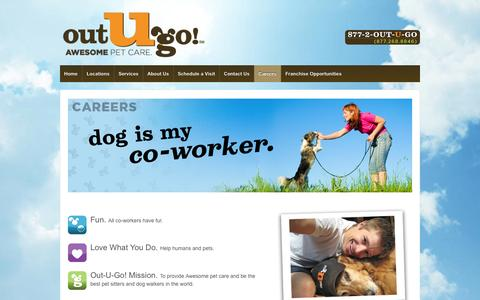 Screenshot of Jobs Page outugo.com - Dog Walking and Pet Sitting Jobs | Out-U-Go! - captured Oct. 7, 2014