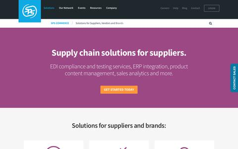 Solutions for Suppliers, Vendors and Brands | SPS Commerce