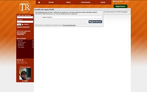 Screenshot of Signup Page the-reality.net - the-reality.net - Sign Up - captured Oct. 9, 2014