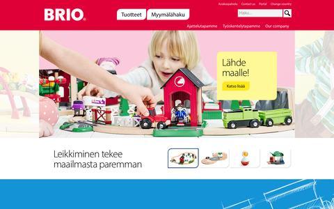 Screenshot of Home Page brio.fi - Start - BRIO - captured Oct. 10, 2015