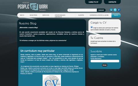 Screenshot of Blog peopleandwork.com.ar - Nuestro Blog | People and Work - captured Oct. 2, 2014