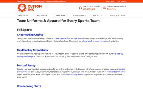 Design Custom Team and Sports Uniforms Online at Custom Ink