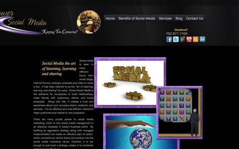 Screenshot of Home Page powersocialmedia.com - Social Media | Social Media Management | Social Media Consulting | Social Media Marketing | Social Media Manager - captured Sept. 30, 2014