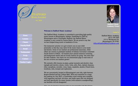 Screenshot of Home Page staffordmusicacademy.com - Stafford Music Academy - High-quality music lessons - captured Aug. 12, 2015