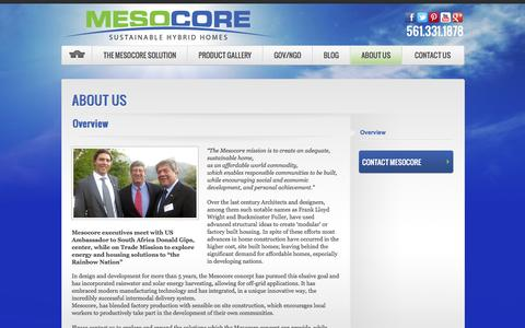 Screenshot of About Page mesocore.com - About Us | Discover Eco-Friendly and Affodable Houses | MesocoreMesocore - captured Oct. 27, 2014