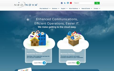 Screenshot of Home Page neonova.net - Home - NeoNova - captured Oct. 10, 2014