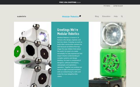 Screenshot of Team Page modrobotics.com - Team   Modular Robotics - captured Sept. 22, 2018