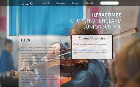 Screenshot of Home Page ilfracombe-jun.devon.sch.uk - Home | Ilfracombe Junior School - captured Feb. 10, 2016