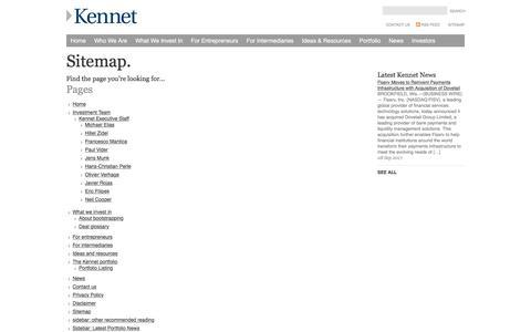 Screenshot of Site Map Page kennet.com - Sitemap - captured Oct. 17, 2017