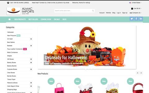 Screenshot of Login Page almacltd.ca - Wholesale Baskets and Gift Basket Supplies. - captured Oct. 4, 2014