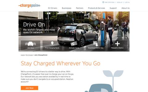 Screenshot of Signup Page chargepoint.com - Join the ChargePoint Charging Network - ChargePoint - captured April 22, 2016