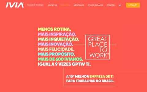 Screenshot of Home Page ivia.com.br - Home - IVIA | Inovação e Tecnologia - captured Nov. 6, 2018