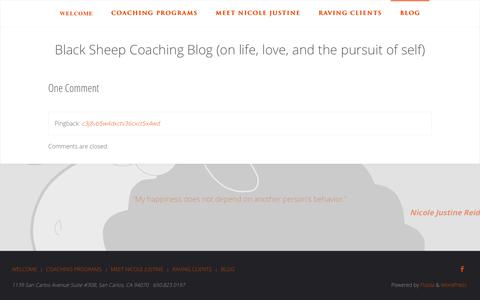 Screenshot of Blog beyouconfidently.com - Black Sheep Coaching Blog (on life, love, and the pursuit of self) | Black Sheep Coaching - captured Oct. 4, 2018