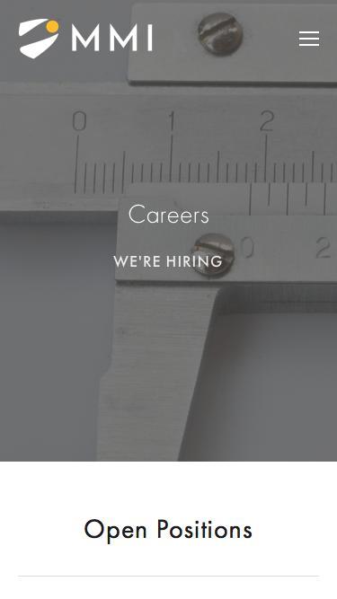 Screenshot of Jobs Page  mmimicro.com - Careers — MMI Microinstruments