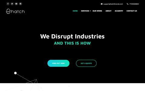 Screenshot of Home Page hatchbrands.com - Houston Based SEO + Digital Agency - HatchBrands - captured Nov. 5, 2018