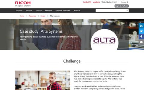 Screenshot of Case Studies Page ricoh-usa.com - Alta Systems - captured Jan. 3, 2019