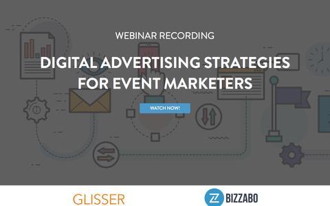 Screenshot of Landing Page bizzabo.com - Digital Advertising Strategies For Event Marketers - captured April 27, 2017