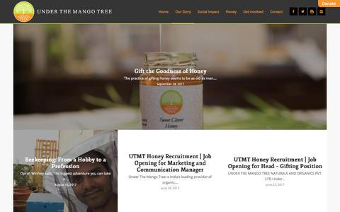 Screenshot of Blog utmt.in - UTMT Blog | Healthy Honey Benefits| Honey Recipies| Beekeper Success Stories | UTMT - captured Oct. 6, 2017