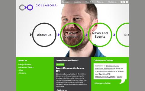 Screenshot of About Page collabora.com - About us - captured Oct. 8, 2014
