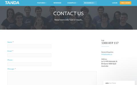 Screenshot of Contact Page tanda.co - Jellie says… - captured Dec. 25, 2017