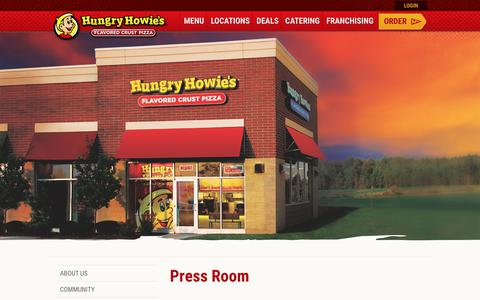 Screenshot of Press Page hungryhowies.com - Press Room | Hungry Howies - captured June 30, 2017