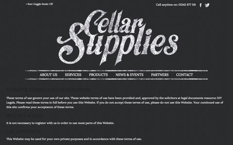 Screenshot of Terms Page cellarsupplies.co.uk - Terms   Cellar Supplies - captured Oct. 2, 2014