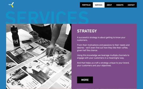 Screenshot of Services Page brightlabs.com.au - Services - Digital Strategy, UI/UX Design - captured Jan. 17, 2016