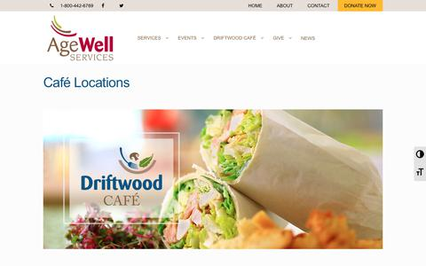 Screenshot of Locations Page agewellservices.org - Café Locations - AgeWell Services - captured Nov. 12, 2018