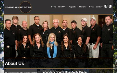 Screenshot of About Page legendarysports.com - Corporate Hospitality at its Finest | Legendary Sports - captured July 18, 2018