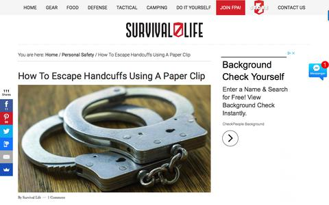How to Escape Handcuffs Using A Paper Clip | Survival Life