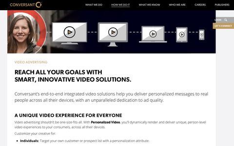 Online Video Marketing Solution | Conversant