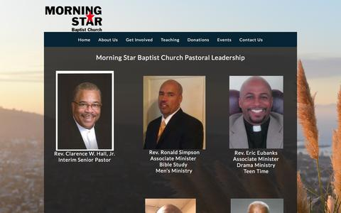 Screenshot of Team Page morningstarbaptist.com - Leadership «  Morning Star Baptist Church - captured Feb. 24, 2016