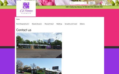 Screenshot of Contact Page edmooreflorist.net - Ed Moore Florist : Denver, CO Florist : Same Day Flower Delivery - captured July 7, 2018