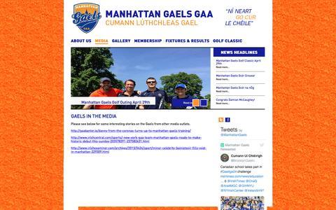 Screenshot of Press Page manhattangaels.com - Manhattan Gaels | Gaels In The Media - captured Nov. 18, 2016