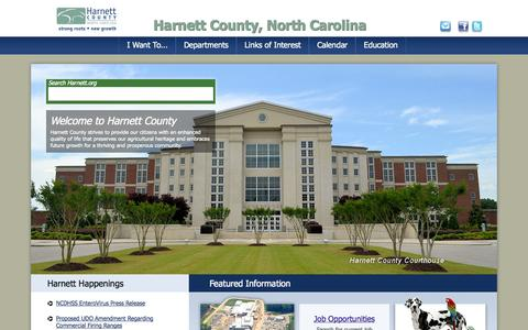 Screenshot of Home Page Privacy Page harnett.org - Welcome to Harnett County, NC | Harnett County, North Carolina - captured Oct. 2, 2014