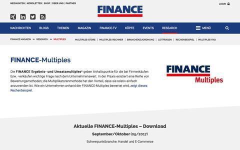 FINANCE-Multiples-FINANCE Magazin