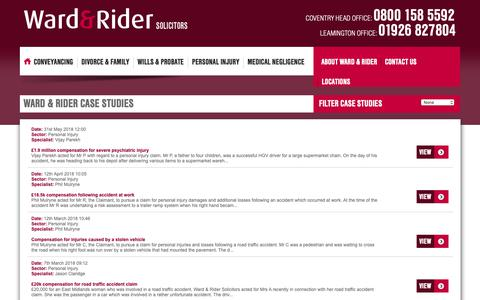 Screenshot of Case Studies Page wardandrider.com - Ward and Rider default title - captured Nov. 16, 2018