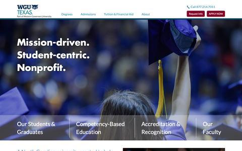 Screenshot of About Page wgu.edu - About WGU North Carolina - captured June 21, 2019
