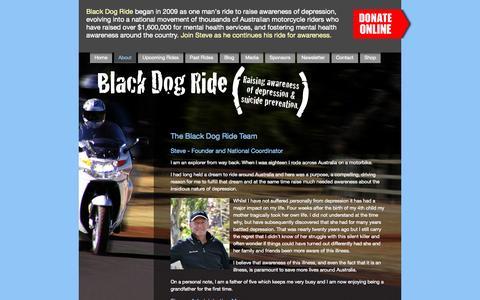 Screenshot of Team Page blackdogride.com.au - Black Dog Ride - The Team - captured Sept. 30, 2014
