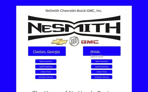 Screenshot of Home Page nesmithnow.com - New Cars, Used Cars | Nesmith Chevrolet Claxton & Jesup - captured Oct. 20, 2017
