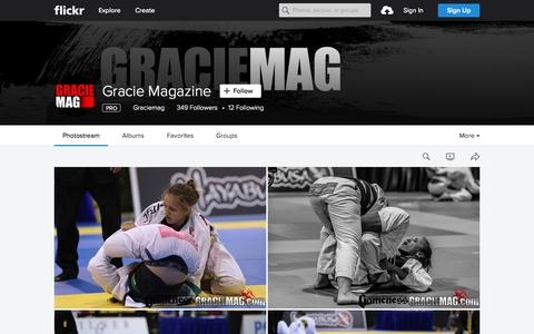 Screenshot of Flickr Page flickr.com - Gracie Magazine | Flickr - Photo Sharing! - captured Oct. 1, 2015
