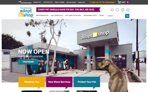Screenshot of Home Page Site Map Page adoptandshop.org - Adopt & Shop: We're for Pets, Not for Profit | Unique, Natural Pet Products - captured Sept. 23, 2014