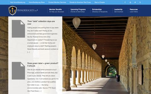Screenshot of Home Page honorsociety.com - Honor Society - HonorSociety.org - captured Sept. 19, 2015