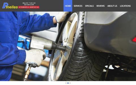 Screenshot of Home Page pinellasautobody.com - Pinellas Auto Body & Service Inc | - captured Sept. 19, 2015