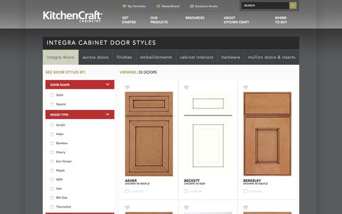 Screenshot of Products Page kitchencraft.com - Cabinet Door Styles - Integra - Kitchen Craft - captured June 9, 2017
