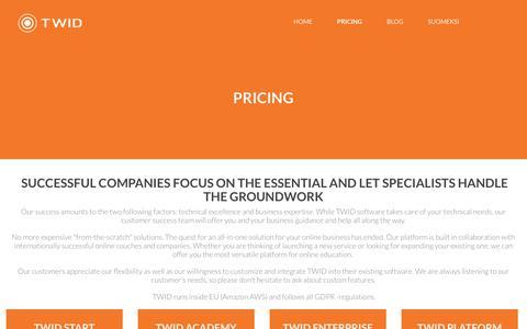 Screenshot of Pricing Page twid.com - TWID.com - captured Oct. 19, 2018