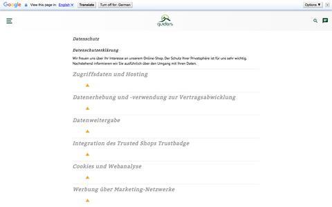 Screenshot of Privacy Page guiders.de - Datenschutz | guiders.de - captured Sept. 22, 2018