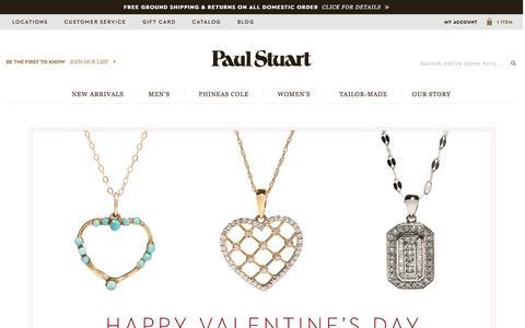 Screenshot of Home Page paulstuart.com - Paul Stuart - Fine Men's & Women's clothing - captured Feb. 15, 2016