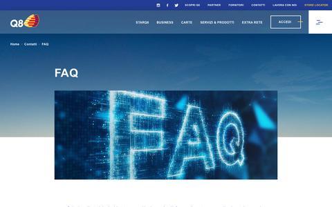 Screenshot of FAQ Page q8.it - Q8 - FAQ - captured Nov. 8, 2018